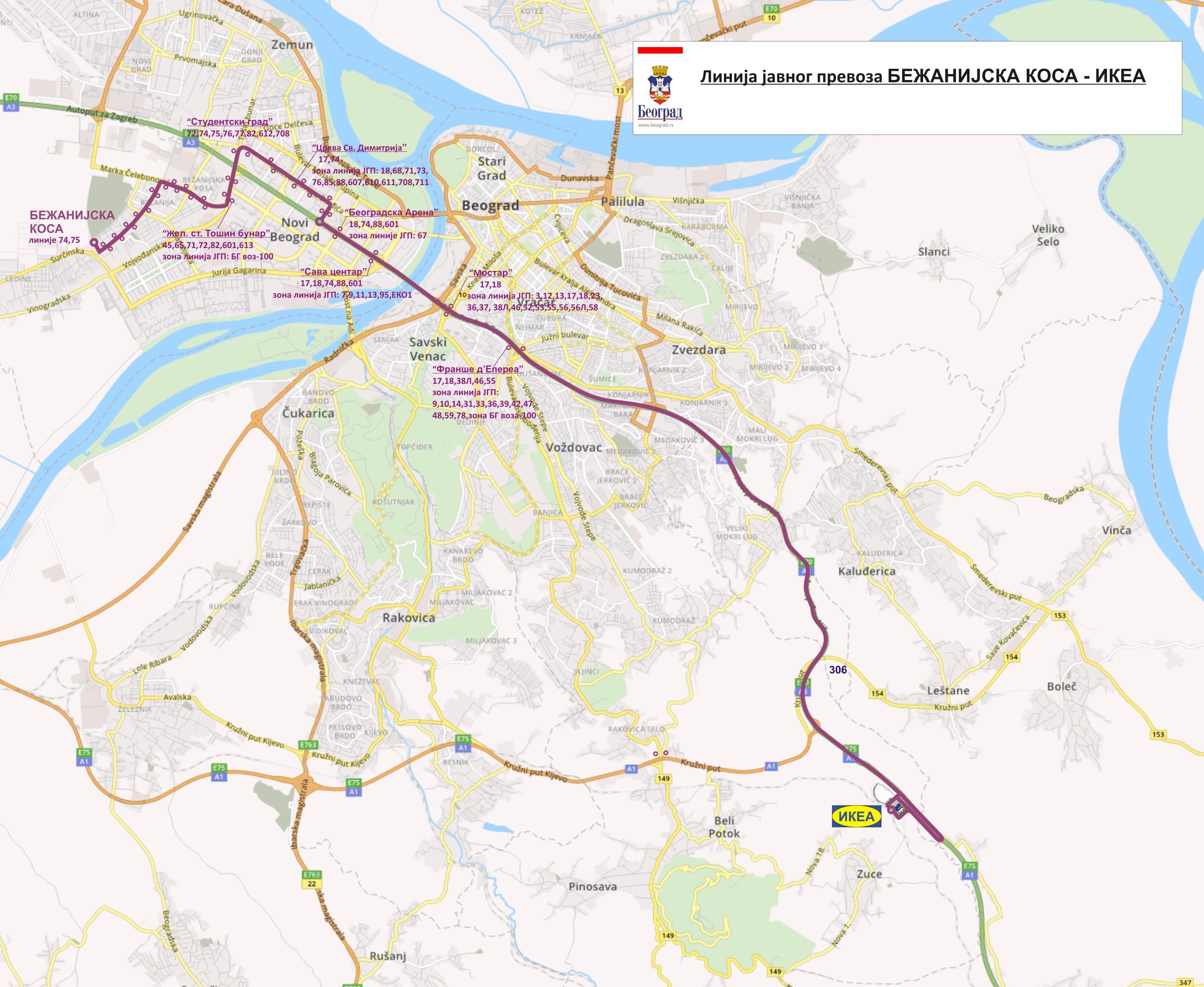 toplice milana beograd mapa Od 10.08.2017. uspostavlja se nova autobuska linija broj 70 na  toplice milana beograd mapa